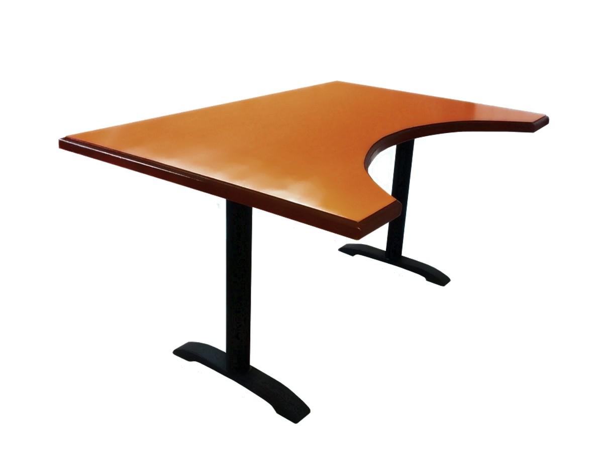 Компьютерный стол из массива дуба - дизайнерский. Орех